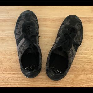 black coach shoes. slightly used.
